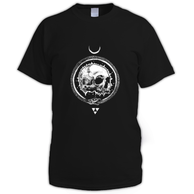 """SKULL & MOON"" / WOMENS / GIRLS / MENS T-SHIRT (VARIOUS COLORS) ATRAX HAZE UK (Clothing) ATRAX HAZE UK (Clothing) #Harajuku #Witch #Moon #Goth #altern"
