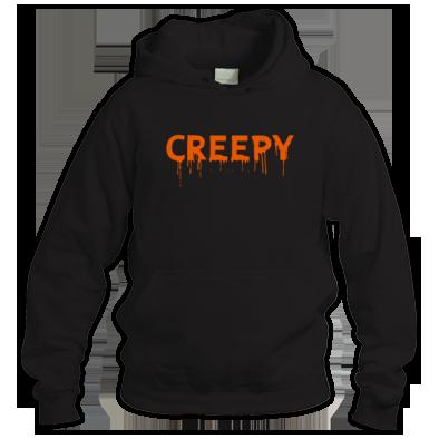 """CREEPY"" (PUMPKIN BLOOD DRIP) WOMENS / GIRLS / MENS HOODIE (VARIOUS COLORS) 100% COTTON / ATRAX HAZE UK #grunge #goth #witch #halloween"
