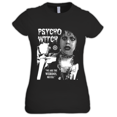 """PSYCHO WITCH"" / WOMEN / GIRLS / T-SHIRT (ATRAX HAZE UK) #grunge #goth #alternative #witch #moonchild #ouija"