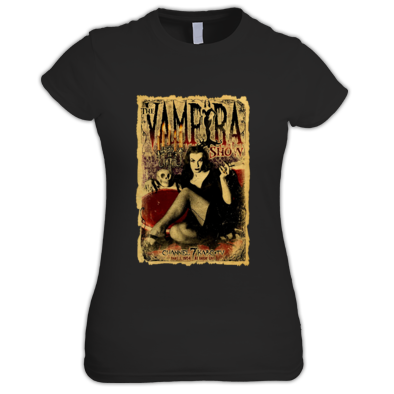 """THE VAMPIRA SHOW"" WOMENS / GIRLS / T-SHIRT (ATRAX HAZE UK) #grunge #goth #alternative #alt.fashion #haute goth #gothic aesthetic"