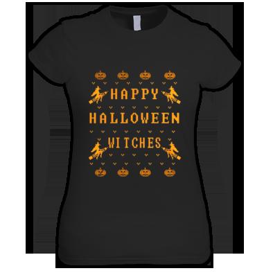 """HAPPY WITCHES"" WOMENS / GIRLS / T-SHIRT (ATRAX HAZE UK) #grunge #goth #alternative #alt.fashion #gothic aesthetic #halloween"