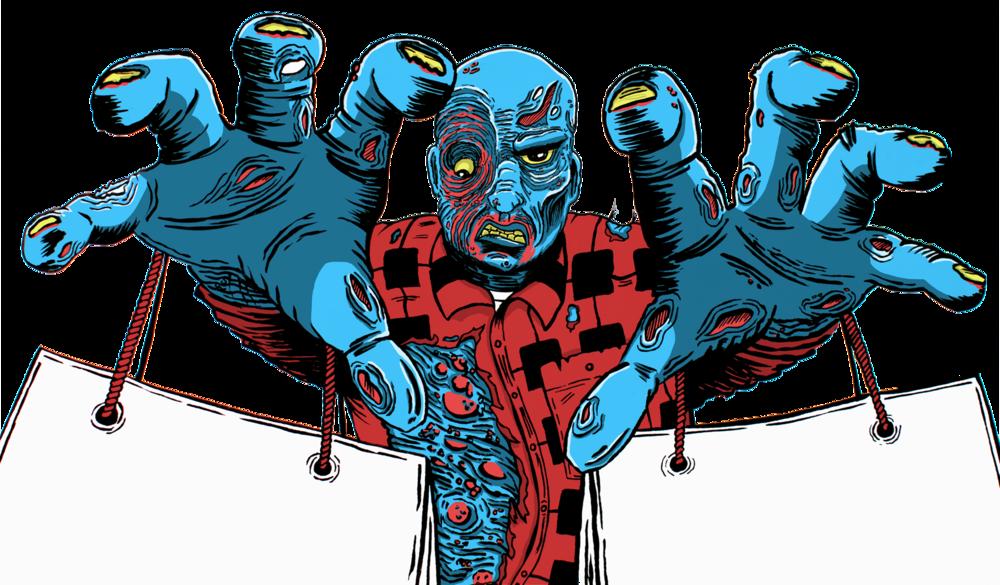 Zombie shopper tote>