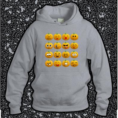 Halloween Pumpkin Emoji Hoodies