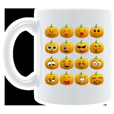 Halloween Pumpkin Emoji Mug