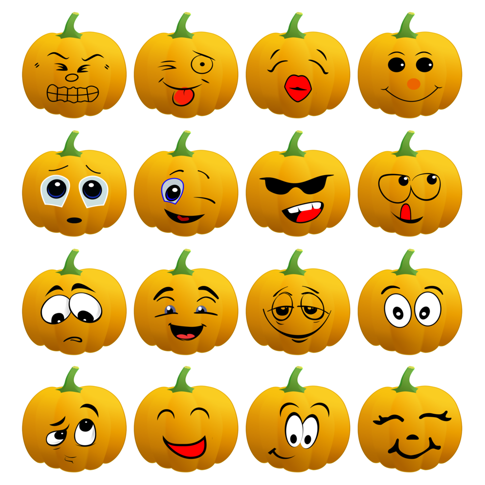 Halloween Pumpkin Emoji Tote Bags>