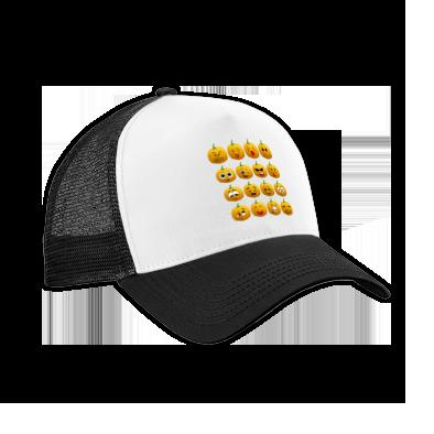 Halloween Pumpkin Emoji Cap