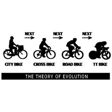 The theory of evolution (TT bike)>