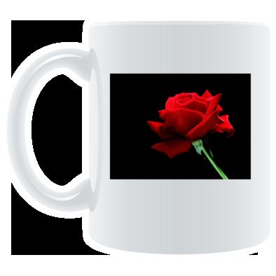 red rose mug