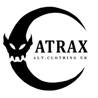 (( ATRAX MOON LOGO )) Ladies T-shirt / 100% Cotton / Best Quality Print / Atrax Alt Clothing UK>