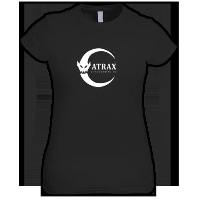 (( ATRAX MOON LOGO )) Ladies T-shirt / 100% Cotton / Best Quality Print / Atrax Alt Clothing UK