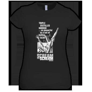 (( SCREAM AND SCREAM AGAIN )) Ladies T-shirt / 100% Cotton / Best Quality Print / Atrax Alt. Clothing UK