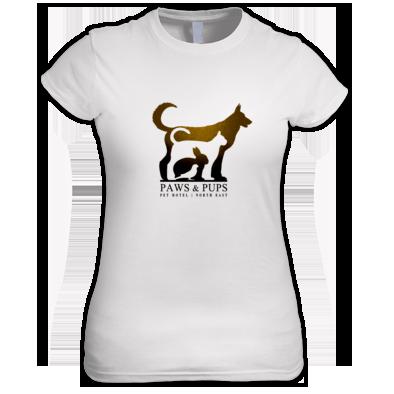 Paws & Pups (Pet Hotel) Ladies | Girls T-shirt | 100% Cotton