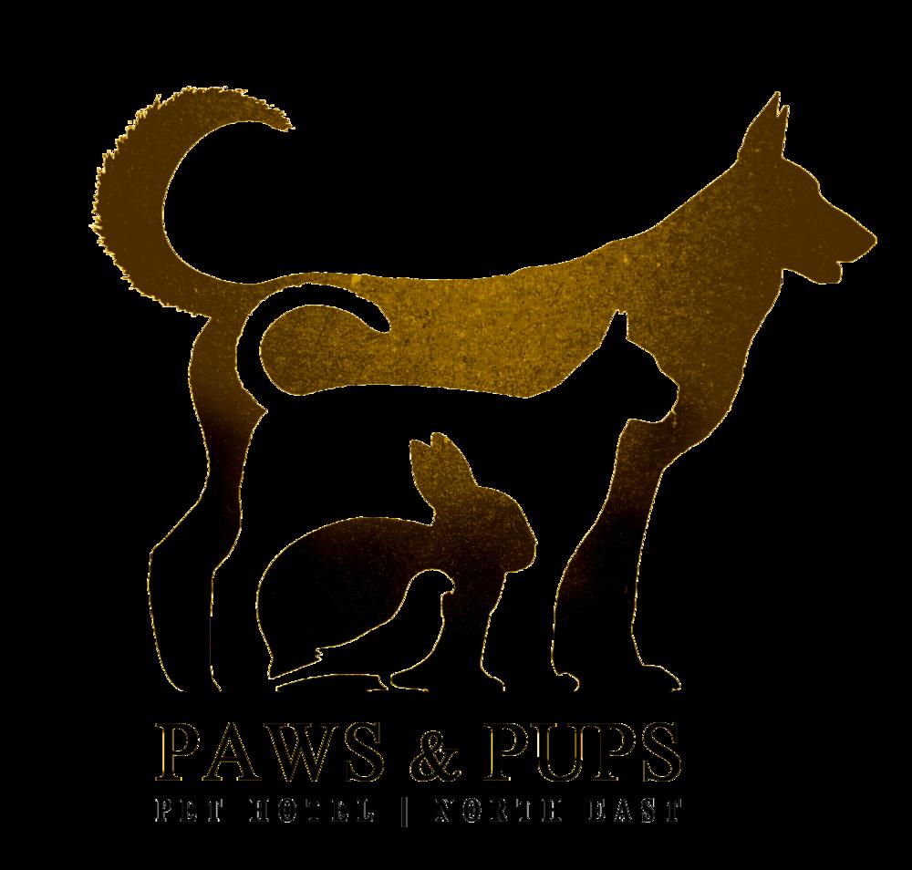 Paws & Pups (Pet Hotel) Ladies | Girls | Mens Unisex T-shirt | 100% Cotton>