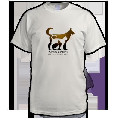 Paws & Pups (Pet Hotel) Ladies | Girls | Mens Unisex T-shirt | 100% Cotton