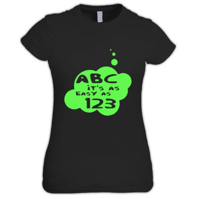 ABC it's as Easy as 123 by Bubble-Tees.com