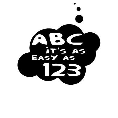 ABC it's as Easy as 123 by Bubble-Tees.com>