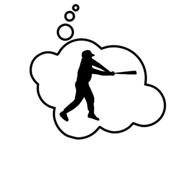 Baseball Player in Thought Bubble by Chillee Wilson from Bubble.Tees.com>