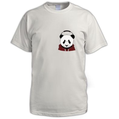 RegencyPanda:Mens t shirt with emblem-meduim