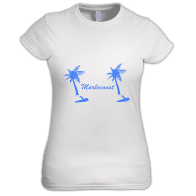 Markoconut tree womans shirt