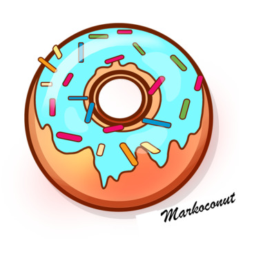 Markocodonut hoodie (colour)>