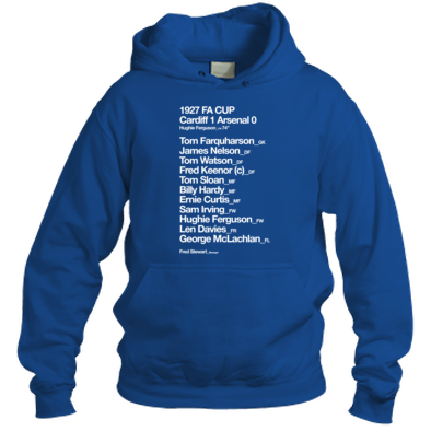 Cardiff City FC - 1927 FA Cup - Hooded Top