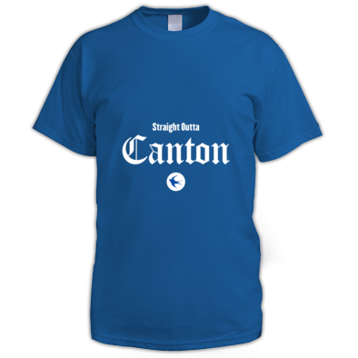 Cardiff City FC - Straight Outta Canton - Men's T-shirts