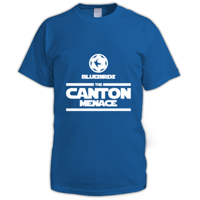 Cardiff City FC Bluebirds - The Canton Menace - Mens Tshirts