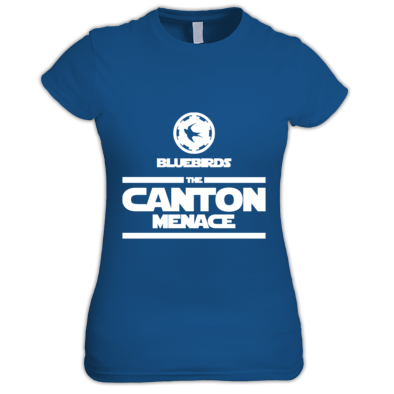 Cardiff City FC Bluebirds - The Canton Menace - Womens Tshirts