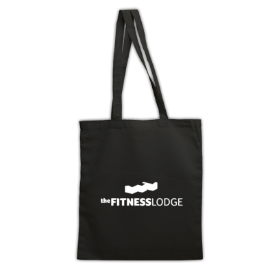 The Fitness Lodge Bag Black & White