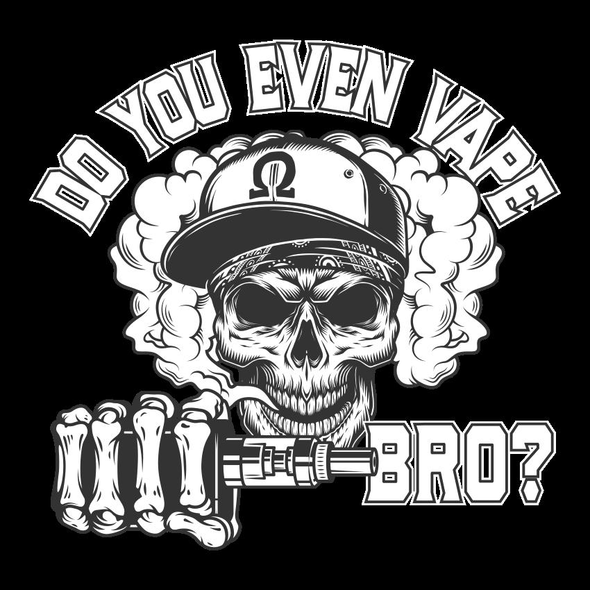 Do You Even Vape Bro Ladies T Shirt>