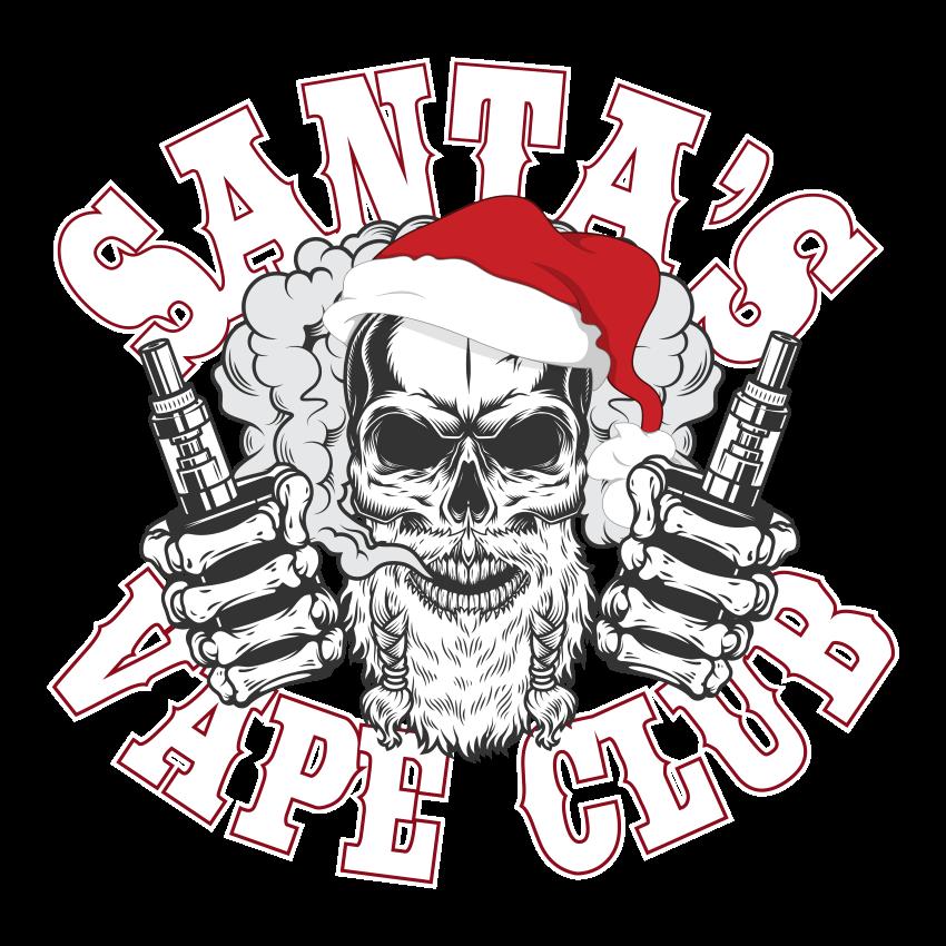 Santa's Vape Club Ladies T Shirt>