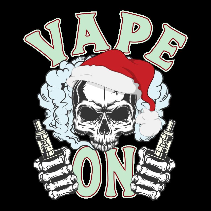 Vape On Santa Ladies T Shirt>