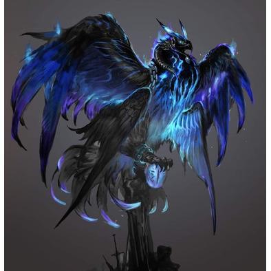 blue bird queen of pheonix's hoodie>