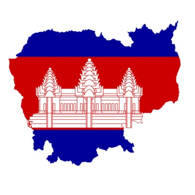 Cambodia - Map and Flag>