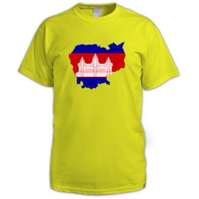 Cambodia - Map and Flag