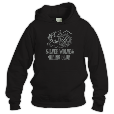Silver Wolves Hiking Club Hoodie
