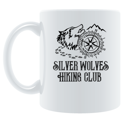 Silver Wolves Hiking Club Mug