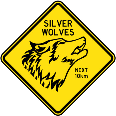 Silver Wolves 10km Badged Hoodie