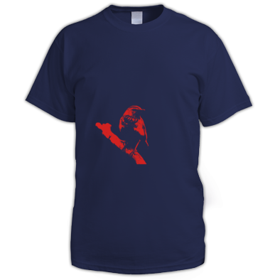 Red on Navy