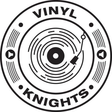 The Vinyl Knights mug 'that makes your coffee taste twice as nice'