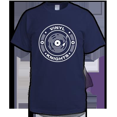 Vinyl Knights Men's T-Shirt Navy