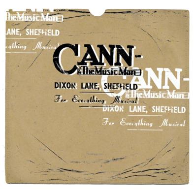Cann The Music Man 78 rpm F>