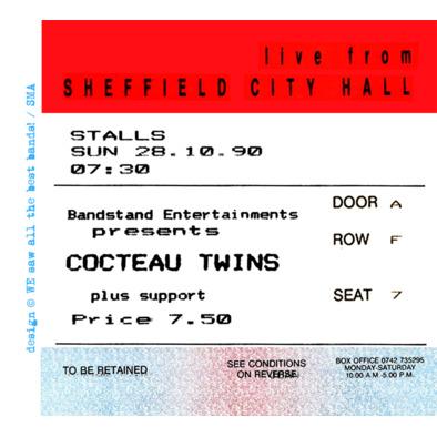 Cocteau Twins ticket F>
