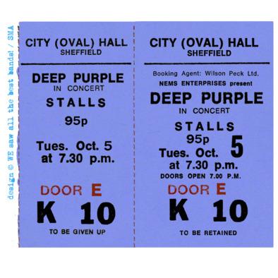 Deep Purple ticket F