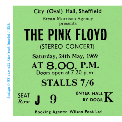 Pink Floyd ticket M