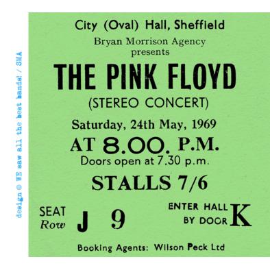 Pink Floyd ticket F>
