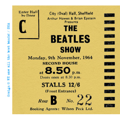 The Beatles Show ticket F