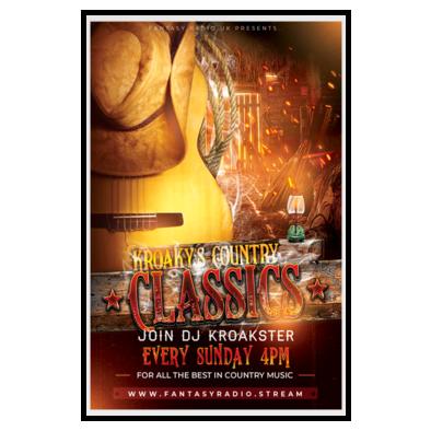 Kroaky's Country Classics Poster - Fantasy Radio UK