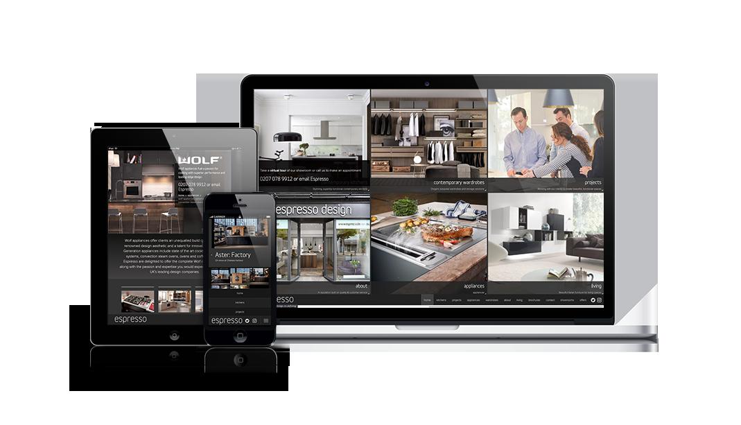 Espresso responsive showcase presentation