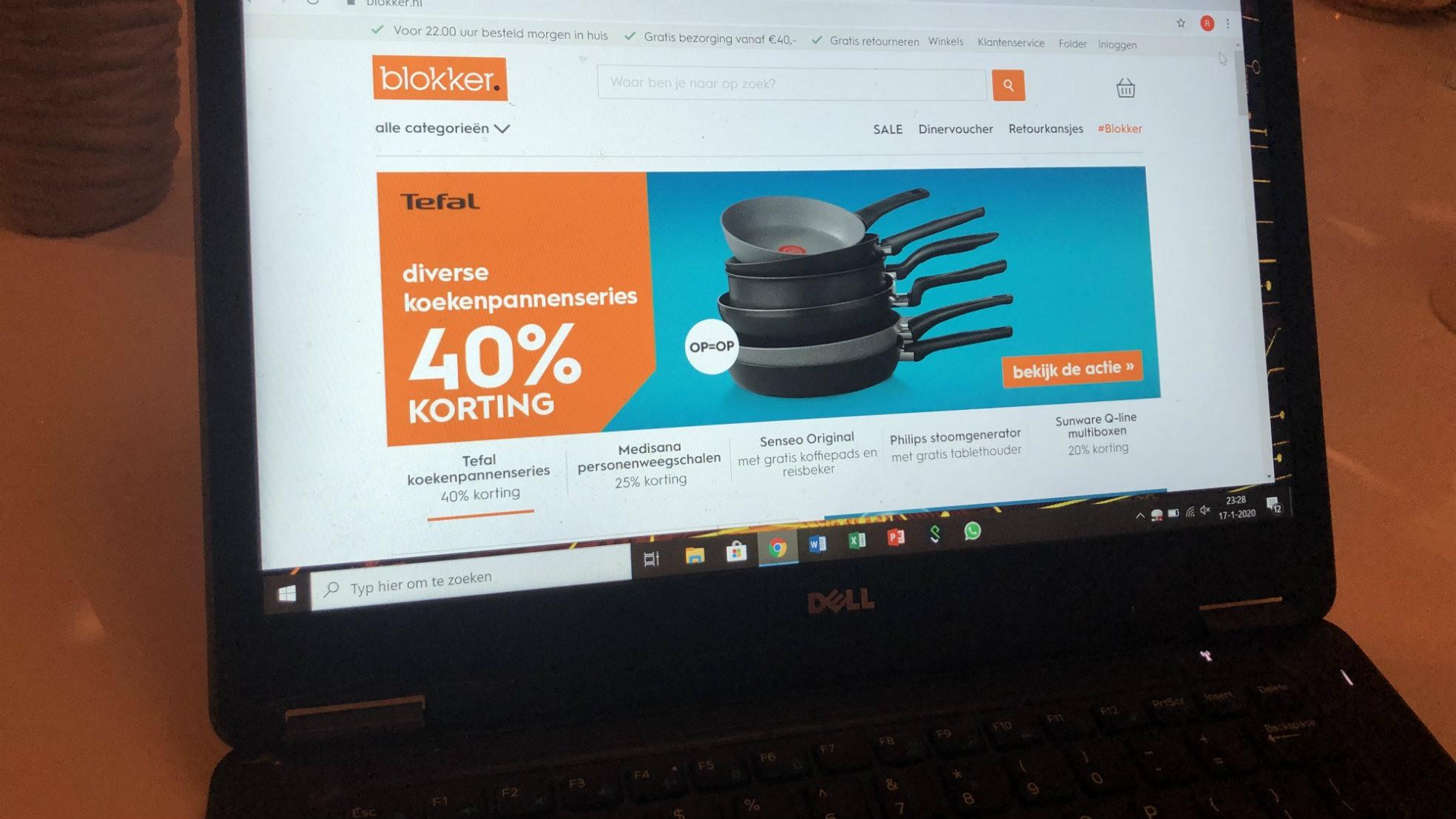 Blokker website